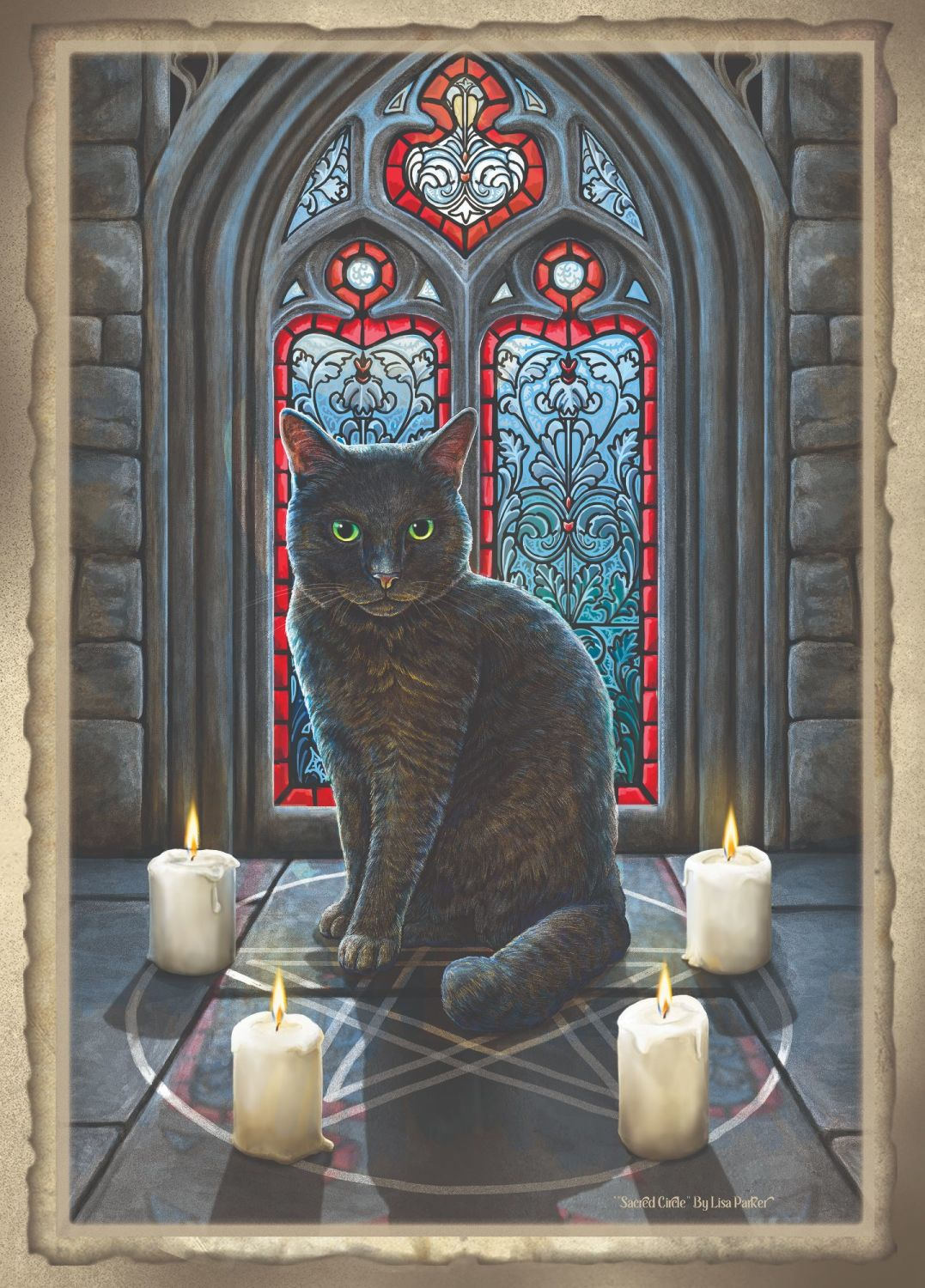 The sacred circle signed artist print by Lisa Parker A2 size