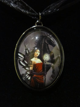 defenders of the realm glass pendant with 20 inch black cord