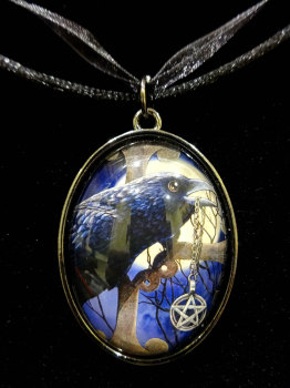 talisman glass pendant with 20 inch black cord