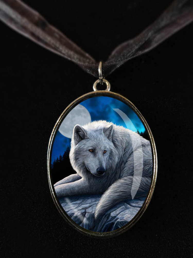 Guardian of the north glass pendant