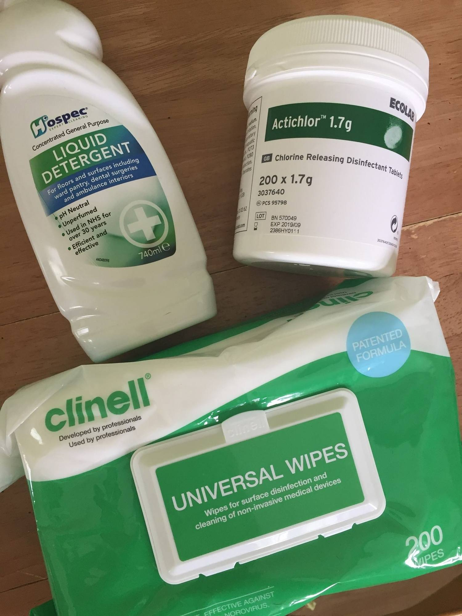 cleaning products for birth pools