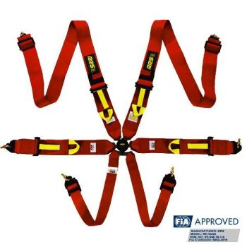 RRS FIA R6 2020 2.9 kg red harnesses (6pts)