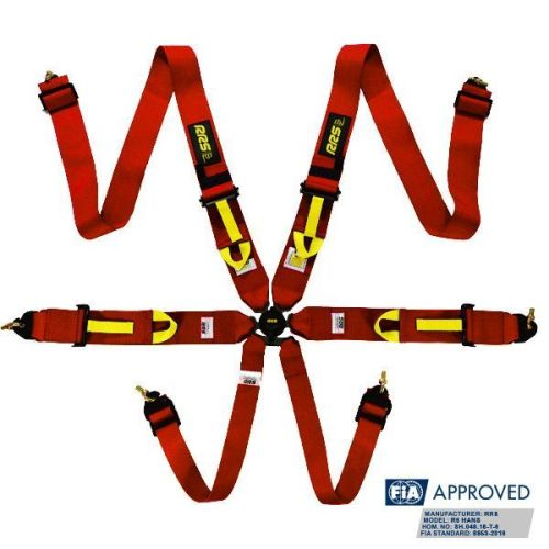 RRS FIA R6 2019 2.9 kg red harnesses (6pts)