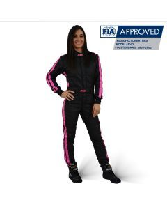 RRS EVO FIA Diamond Girl Race suit Black/Pink