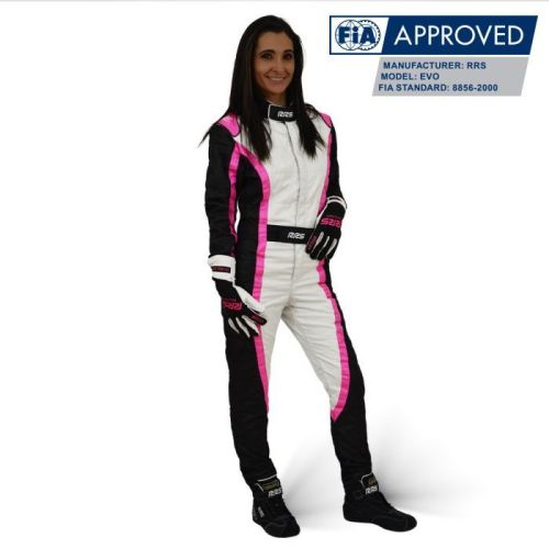 Girl RRS Victory FIA race suit - Pink/White