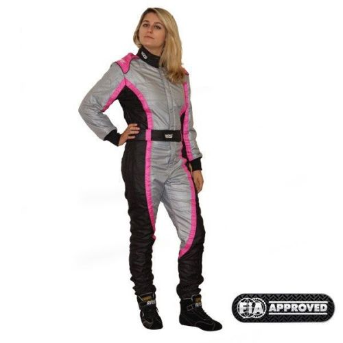 Girl RRS Victory FIA race suit - Pink/Grey