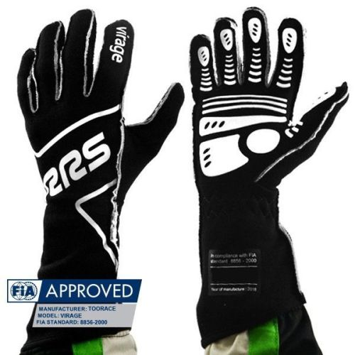 FIA RRS VIRAGE EVO gloves (External seams) - Black