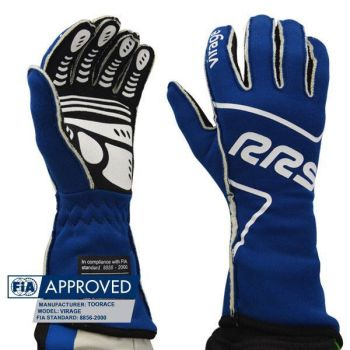 FIA RRS VIRAGE EVO gloves (External seams) - Blue