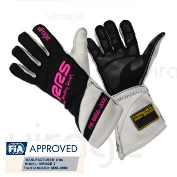 Racing Gloves RRS Virage2 FIA - Black logo Pink