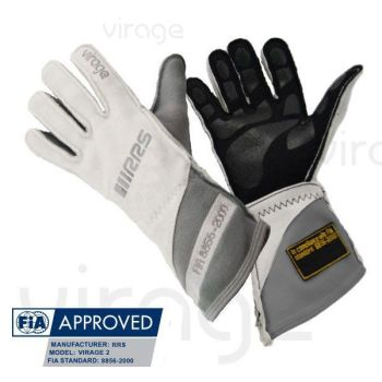 Racing Gloves RRS Virage2 FIA - Whites logo Grey