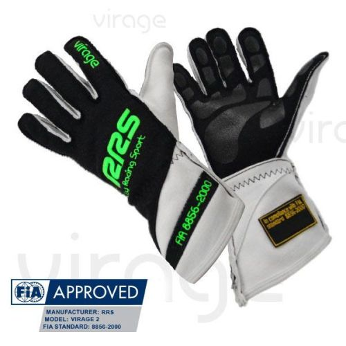 Racing Gloves RRS Virage2 FIA - Black logo Green