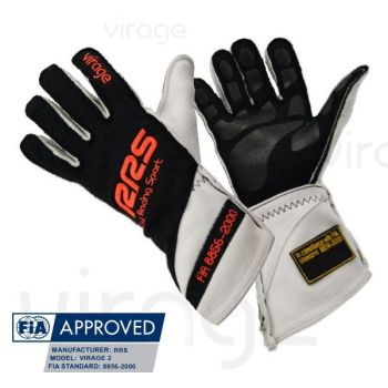 Racing Gloves RRS Virage2 FIA - Black logo Orange