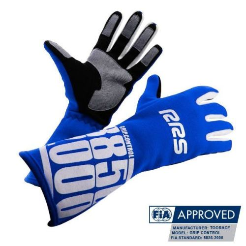 Racing Gloves RRS Grip Control FIA - Blue