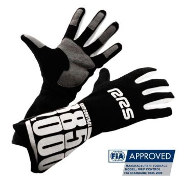 Racing Gloves RRS Grip Control FIA - Black