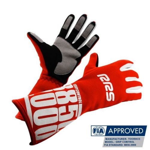 Racing Gloves RRS Grip Control FIA - Red