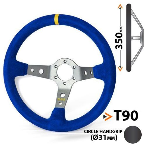 RRS Corsa 3 aluminium dished spokes 90 – 350 blue steering wheel