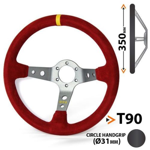 RRS Corsa 3 aluminium spokes dished 90 – 350 red steering wheel