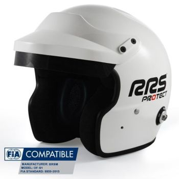 Helmet Protect Open face RRS FIA 8859-2015 - White