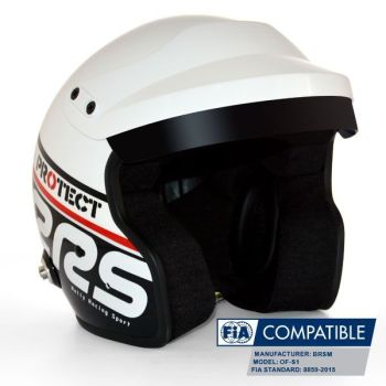 Helmet Protect Open face RRS FIA 8859-2015 - Black