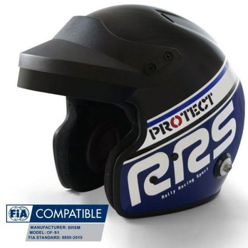 Helmet Protect Open face RRS FIA 8859-2015 - Blue