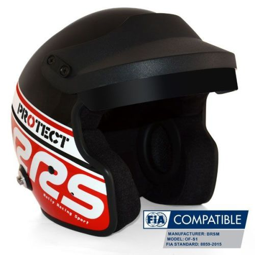 Helmet Protect Open face RRS FIA 8859-2015 - Red