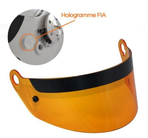 Orange visor for RRS full face helmet