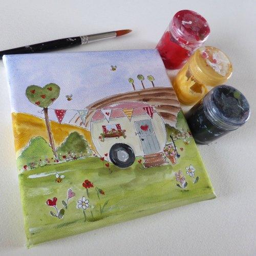 caravan mini canvas