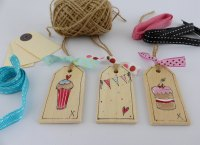 wooden gift tags, everyday