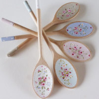 painted wooden spoon