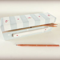 Custom order for Zoe - Striped pencil box