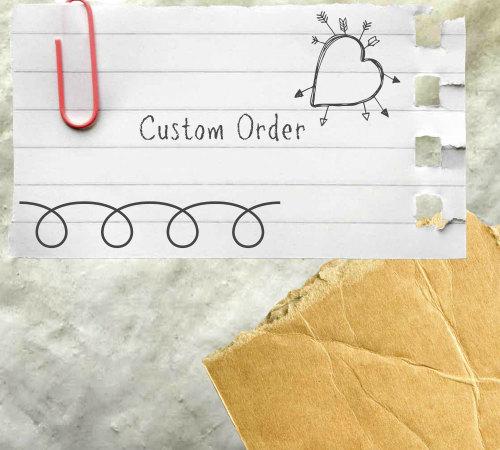 Custom order for Emma's wedding favours