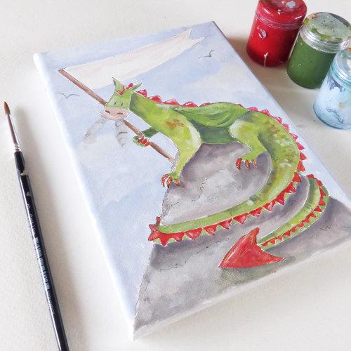Simple dragon canvas