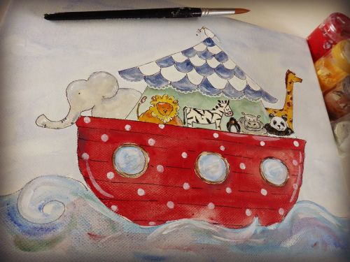 keepsake box, domed box, Noahs Ark design