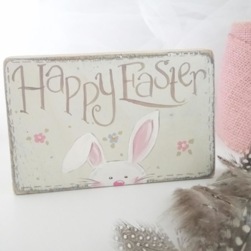 mini chunky oblong sign - Easter