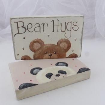 mini chunky oblong sign -bears