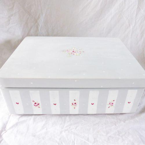 custom order for Jo Purkiss 'Rosie Stripe' keepsake boxes