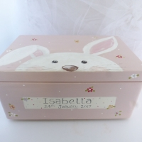large 'peeping bunny' Keepsake box