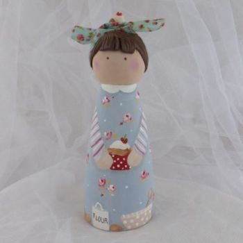 'The Baker' 12 cm tall 'peg' person