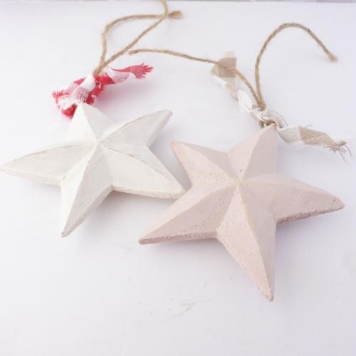 pair of wooden stars