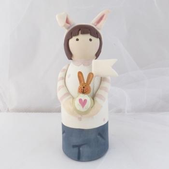 peg person - bunny ears