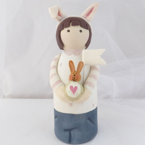 peg person - bunny ears