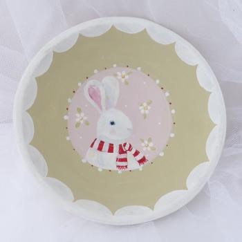 bunny bowl - white rabbit