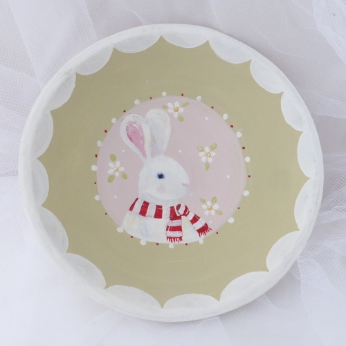 bunny bowl - white rabbit