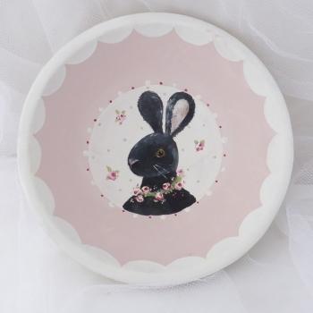 bunny bowl - black rabbit