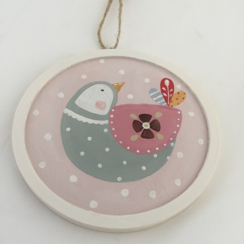 folk bird (pink background)