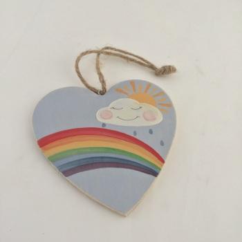Rainbow Heart (country shape)