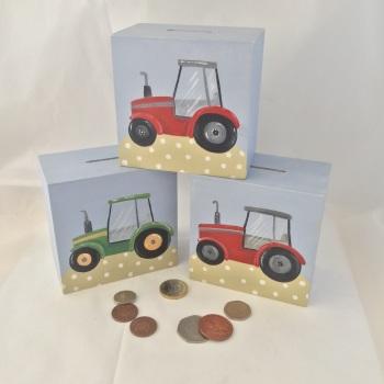 money box - tractor