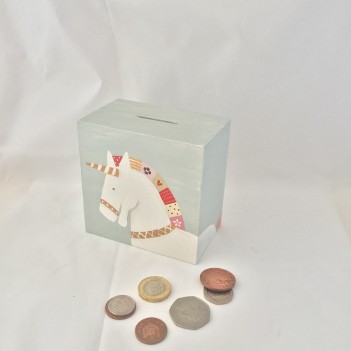 money box - dala unicorn