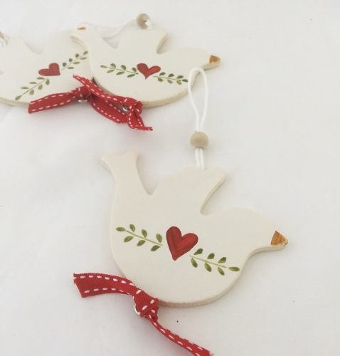 wooden dove decoration