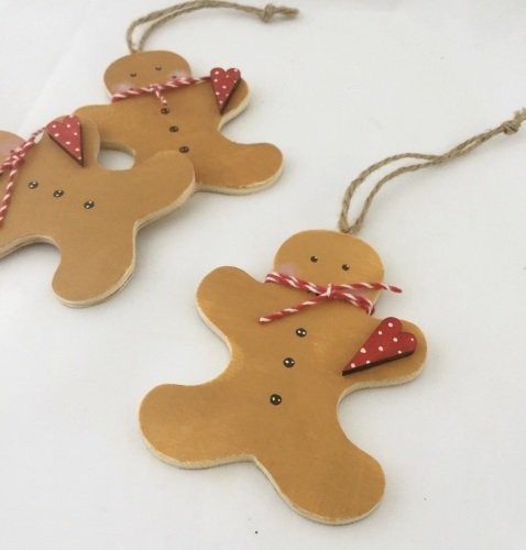 wooden gingerbread decoration
